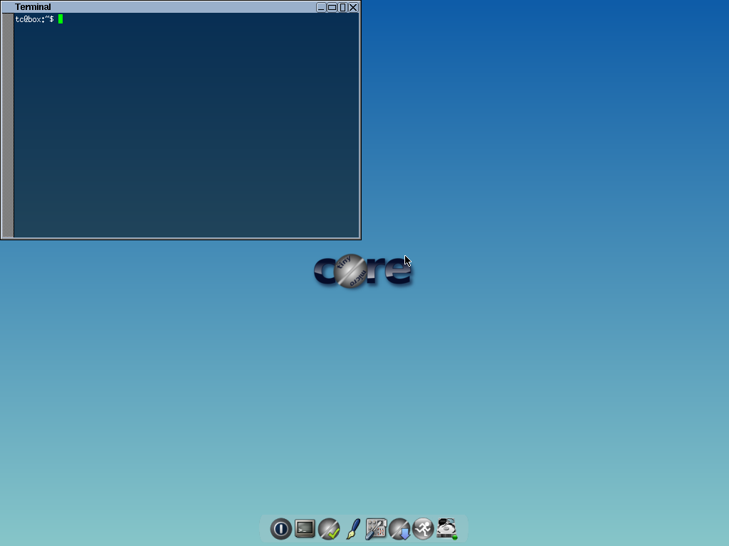 """Topside"" flwm desktop with terminal window"